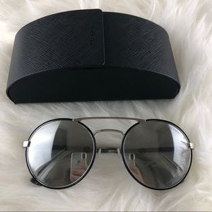 New‼️PRADA Authentic SPR 51S Round Mirrored